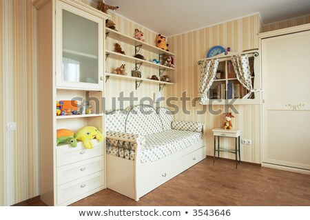 Scene of toys on shelves and cupboard Stock photo © bluering