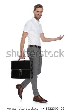 Stock foto: Seitenansicht · lachen · smart · Mann · Business