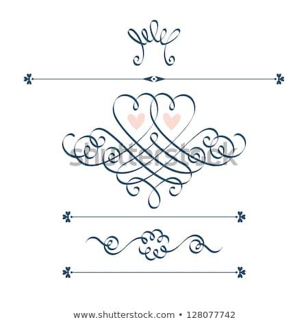 Ayarlamak süslemeleri dekoratif elemanları biçim denizyıldızı Stok fotoğraf © Lady-Luck