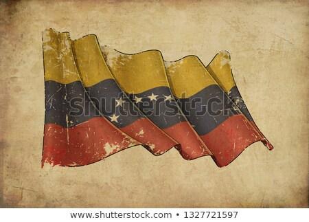 Papiro bandeira Venezuela ilustração Foto stock © nazlisart