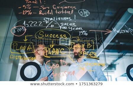 Estrategia de negocios proceso presentación bordo vector Foto stock © robuart