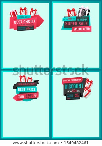 Limited Offer, Sale of Exclusive Goods, 50 Percent Stock photo © robuart