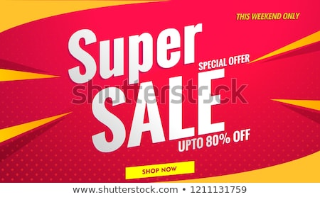 big sale at weekend shop tags vector web templates stock photo © robuart