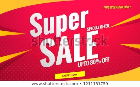 Duży sprzedaży weekend sklep wektora Zdjęcia stock © robuart