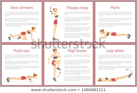 Slow Climbers Poster Text Vector Illustration Stock photo © robuart