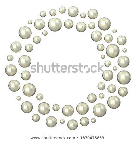 Circle made of scattered pearls 3D Stock photo © djmilic