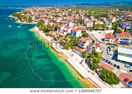 brodarica village beach and stone coastline view stock photo © xbrchx
