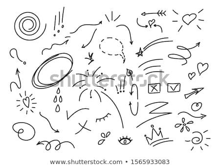 Királynő szöveglufi illusztráció boldog terv felirat Stock fotó © colematt
