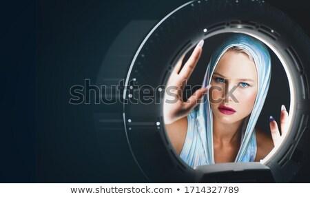 portret · astronauta · dziewczyna · kask · moda - zdjęcia stock © jossdiim