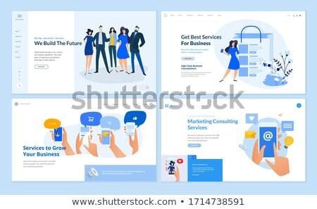 Teamwork app interface template. Stock photo © RAStudio