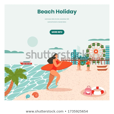 summer vacation people on holidays summertime stock photo © robuart