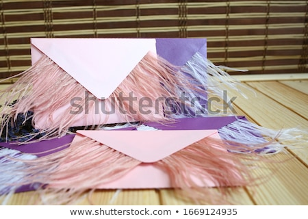 Zarif toz tüy güzel boyalı pembe Stok fotoğraf © blackmoon979