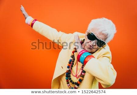 бабушки улыбаясь старший женщины белые волосы глядя Сток-фото © pressmaster