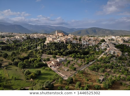 Légi fotó pont kilátás kép város Stock fotó © amok