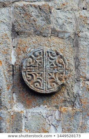 Detalle fachada iglesia Georgia vista edificio Foto stock © boggy