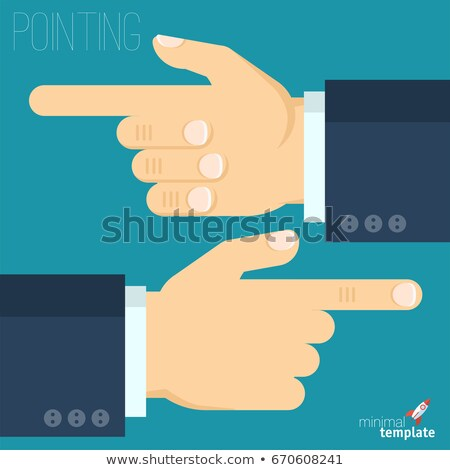 Stock photo: Male Hand Pointer Finger Showing Gesture Vector
