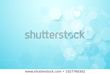 blue medical and healthcare background with hexagonal shapes Stock photo © SArts