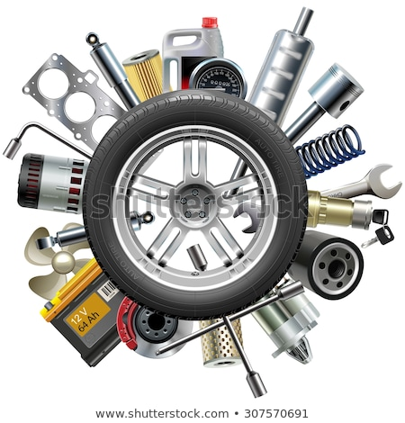 Vector Wheel with Car Spares Stock photo © dashadima