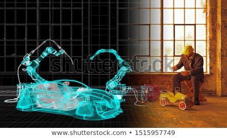 man versus old robot Stock photo © studiostoks