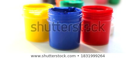 Water bottles in six different colors Stock photo © bluering