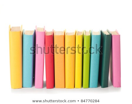 Stock fotó: Közelkép · színes · könyvek · boglya · köteg · igazi