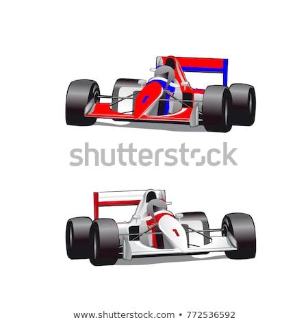 Wektora cartoon Formuła 1 wyścigowy odizolowany biały Zdjęcia stock © mechanik