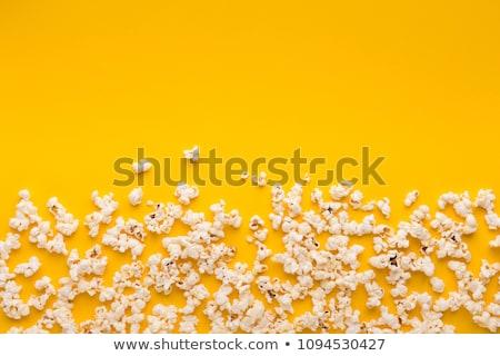 Pipoca amarelo tigela azul topo ver Foto stock © neirfy