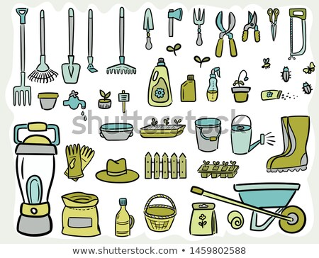 Secateurs Garden Tool Cartoon Retro Drawing Stock photo © patrimonio
