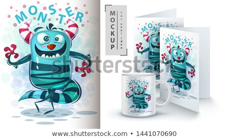 hello monster   mockup for your idea stock photo © rwgusev