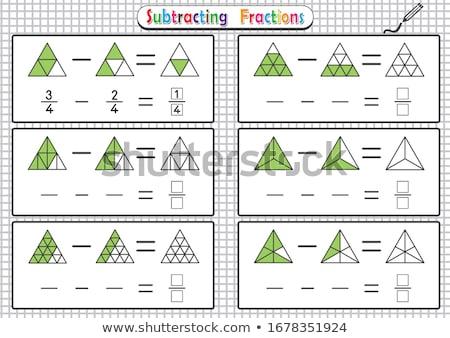 maths calculation educational worksheet for children Stock photo © izakowski