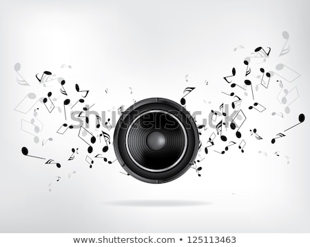 Głośno Język słuchania muzyki retro wektora Zdjęcia stock © pikepicture