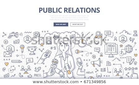 Pr strategia digitale agenzia online Foto d'archivio © RAStudio