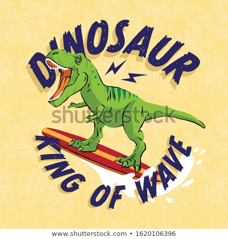 漫画 恐竜 サーフィン 実例 フィットネス スポーツ ストックフォト © bennerdesign