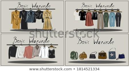 big set of set of Shopping  objects of woman fashion clothes, ac Stock photo © Margolana
