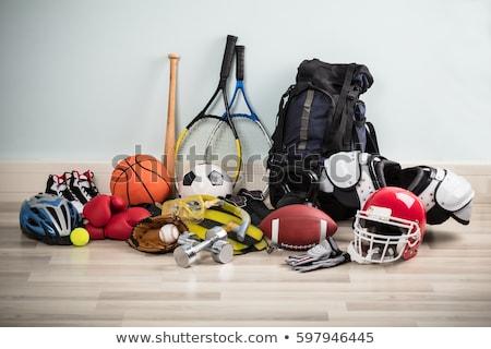 Artículos deportivos deporte objetos fútbol baloncesto béisbol Foto stock © Lightsource