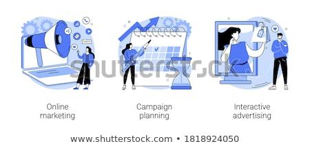 terv · emberek · ikonok · izolált · fehér · szett - stock fotó © rastudio