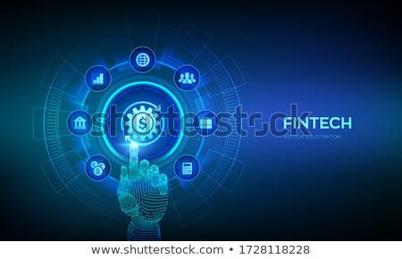 Aplicación pago web tecnología vector inversión Foto stock © robuart