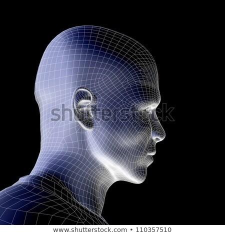 Futurista inteligencia artificial tecnología cara diseno negocios Foto stock © SArts