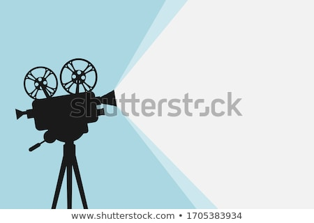 Filmstrip rollen bioscoop projector retro vector Stockfoto © pikepicture