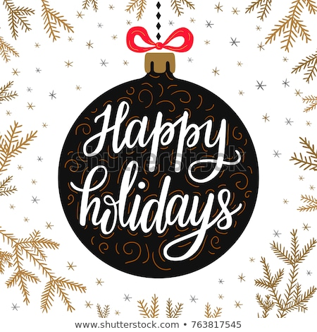 happy holidays hand written lettering in doodle style Stock photo © SArts