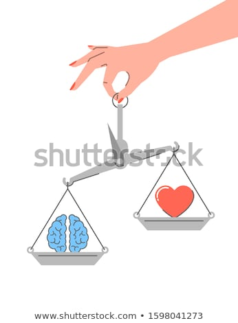 Lógica vs emoções linear vetor conflito Foto stock © vectorikart