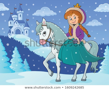 Winter princess with horse image 2 Stock photo © clairev