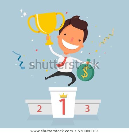 Adjudicación empresario trofeo masculina victoria persona Foto stock © robuart