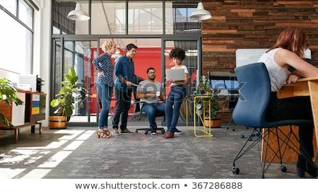 Business startup zakenman presentatie vector tonen Stockfoto © robuart