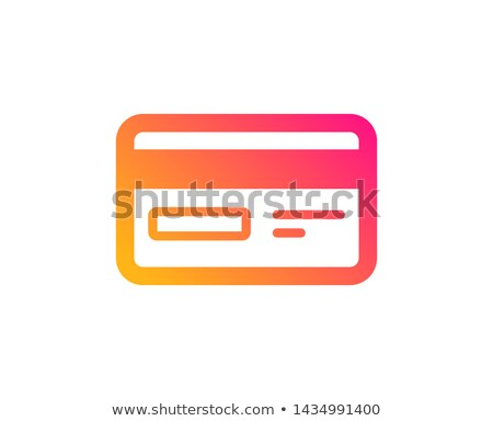 E-banking flat gradient icon Stock photo © barsrsind