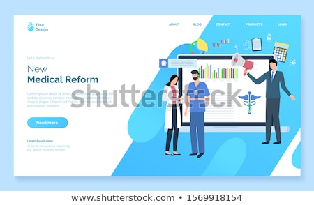 Doctor and Document, News Of Medical Reform Vector Stock photo © robuart