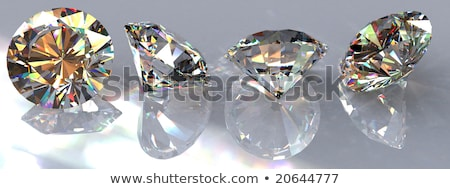 Vier briljant gesneden diamanten edelstenen grijs Stockfoto © Arsgera