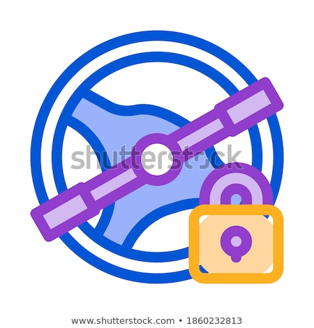 Driving Prohibition Concept Icon Vector Outline Illustration Stock photo © pikepicture