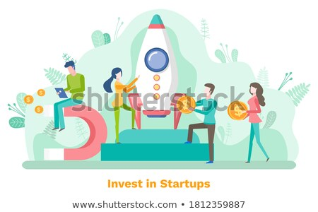 Man and Woman Attracting and Accumulating Capital Stock photo © robuart