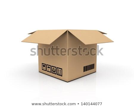 Texto línea para caja de cartón texto en 3d 3d Foto stock © djmilic